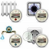 pic of electricity meter  - Meter icons for water - JPG