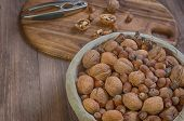 stock photo of nutcracker  - Hazelnuts - JPG