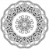 foto of kaleidoscope  - Ornament color card with mandala - JPG