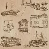 pic of freehand drawing  - Transport Transportation and Vehicles - JPG