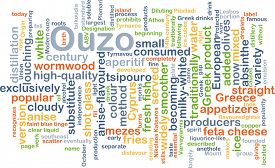 stock photo of ouzo  - Background concept wordcloud illustration of ouzo - JPG