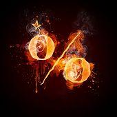 Постер, плакат: Огонь вихрем %