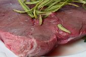 Steak With Rosemary Closeup