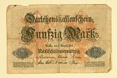 Antique 1914 German 50 Mark