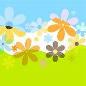 Spring flowers - vector