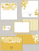 Personal stationery in standard dimensions containing two lined envelopes notecard and business card
