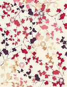 Vector seamless pattern displaying vintage floral.
