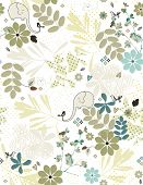 Vector Kid's Garden (Seamless Pattern)