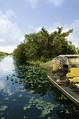 pic of airboat  - Airboat in Everglades Florida Big Cypress National Preserve - JPG