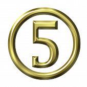 3D Golden Number 5