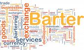 image of bartering  - Background concept wordcloud illustration of barter - JPG