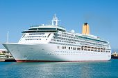 picture of cruise ship  - Elegant Cruise ship visiting Las Palmas Spain - JPG