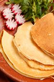 pancakes with sauce ((national belorussian food)