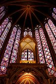picture of stained glass  - front of Saint Chapelle in Paris - JPG