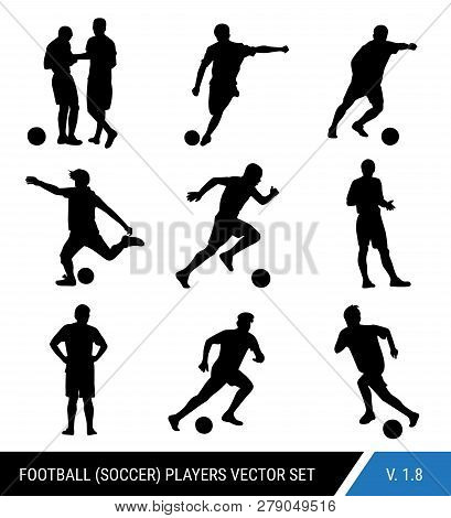 Vector Black Silhouettes Of Football