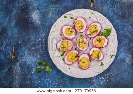 Beetdyed Deviled Eggs Easter Stuffed