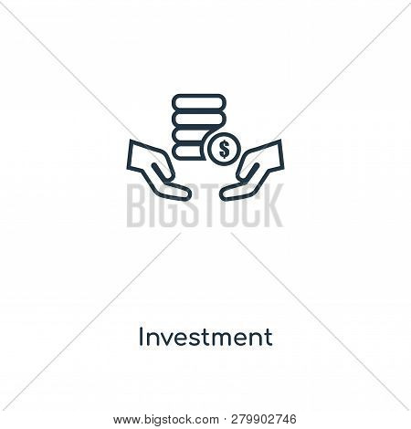 poster of Investment Icon In Trendy Design Style. Investment Icon Isolated On White Background. Investment Vec