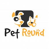 Pets Vector Logo Template This Logo Could Be Use As Logo Of Pet Shop, Pet Clinic, Or Others poster