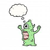 horrible monster cartoon character