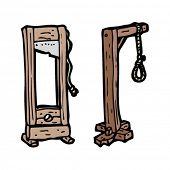 gallows cartoon set