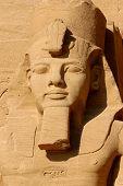 Detail of the Egyptian Pharoah, Ramses