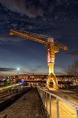 Titan Yellow Crane On Island Of Nantes (loire-atlantique, France) poster