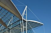 pic of canopy roof  - detail of a glass and steel modern canopy - JPG