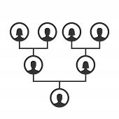 Family Tree, Pedigree Or Ancestry Chart Template. Family Genealogical Tree Icons Infographic Avatars poster