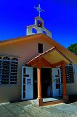 stock photo of san juan puerto rico  - Small country church in Lajas Puerto Rico - JPG