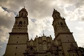 Main Cathedral Overview Morelia Mexico