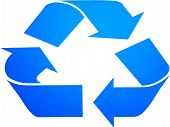 Recycle Sign In Blue