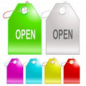 Open. Vector tags.