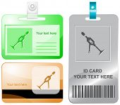 Hand drill. Vector id cards.