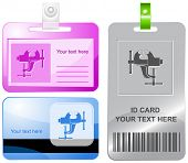Clamp. Vector id cards.