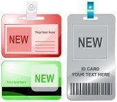 Nuevo. Vector tarjetas de identificación.