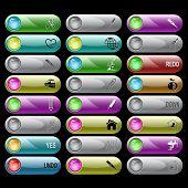 Постер, плакат: Векторный набор кнопок Интернет 24 элементы