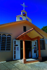 picture of san juan puerto rico  - Small country church in Lajas Puerto Rico - JPG