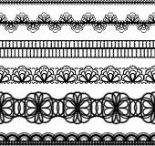 lace borders. set