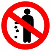 Vector no littering red sign
