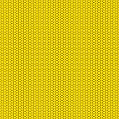 Yellow & Black Honeycomb Pattern