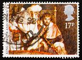 Postage stamp GB 1988 King Arthur andMerlin