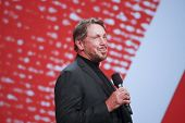 San Francisco, Ca, 30 de septiembre de 2012 - Ceo de Oracle Larry Ellison hace su primer discurso en Oracle Open