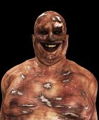 picture of festering  - Very fat and horrible looking Zombie for Halloween - JPG