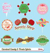 Carnival Candy and Treats Labels