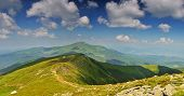 Path From Hoverla Mountain To Petros Mountain