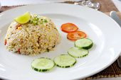 Thai fried rice, served on the dish