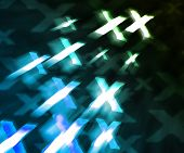 Blue XXX Abstract Background