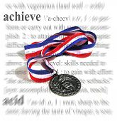 stock photo of glorify  - a medal with an achievement theme - JPG