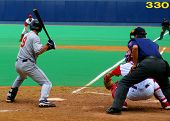 Ball Player Waiting To Swing