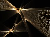 pic of binary code  - internet concept binary code data flow technology style background - JPG